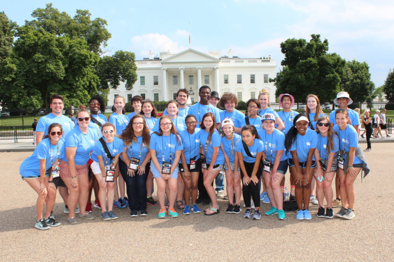 large group of students in Washington DC